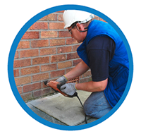 Rising damp control damp proof injection North East