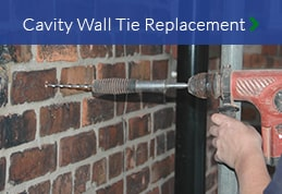 Cavity wall tie replacement services North East